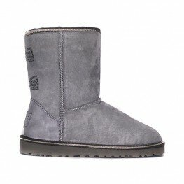 Ugg Classic Short Crystal Bow Locomotive Grey - Угги Кристал Серые