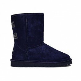 Ugg Classic Short Crystal Bow Peacoat - Угги Кристал Синие